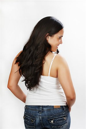 female rear end - Rear View of Woman in Studio Stock Photo - Rights-Managed, Code: 700-03814361