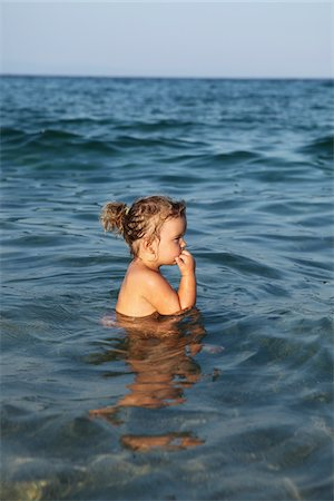 Little Girl in Water Stock Photo - Rights-Managed, Code: 700-03814455