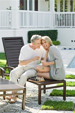 Couple Playing Chess Stock Photo - Rights-Managed, Code: 700-03814475