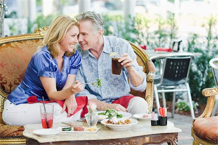 Couple at Restaurant Stock Photo - Rights-Managed, Code: 700-03814481