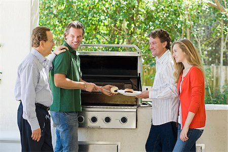 Family Barbeque Stock Photo - Rights-Managed, Code: 700-03814698