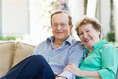 Portrait of Senior Couple Stock Photo - Rights-Managed, Code: 700-03814702