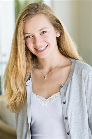 Portrait of Teenage Girl Stock Photo - Rights-Managed, Code: 700-03814703