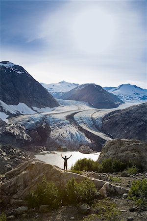 Hiker, Berendon Glacier, Coast Mountains North of Stewart, British Columbia, Canada Stock Photo - Rights-Managed, Code: 700-03815304