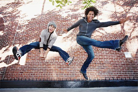 expressive - Two Men Jumping Stock Photo - Rights-Managed, Code: 700-03836214