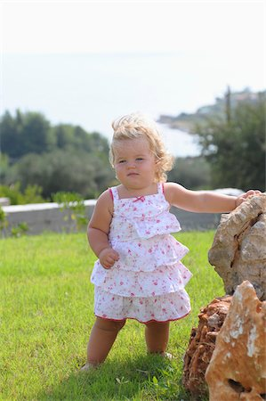 Little Girl Wearing Sundress Stock Photo - Rights-Managed, Code: 700-03836235