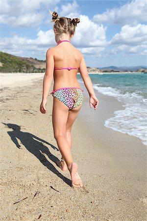 Little Girl Wearing Bikini at Beach Stock Photo - Rights-Managed, Code: 700-03836265