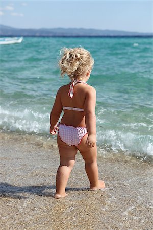 Little Girl Wearing Bikini on Beach Stock Photo - Rights-Managed, Code: 700-03836266