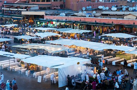 Crowds at Djemaa el Fna, Marrakech, Morocco Stock Photo - Rights-Managed, Code: 700-03836386