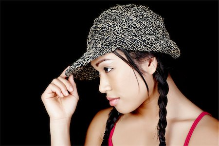 peter griffith - Profile of Woman Wearing Hat Stock Photo - Rights-Managed, Code: 700-03848880