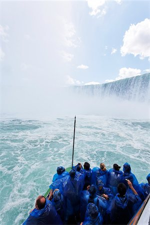 Tourists at Horseshoe Falls, Niagara Falls, Ontario, Canada Stock Photo - Rights-Managed, Code: 700-03848931