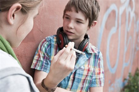 Young Teens Smoking Cigarettes Stock Photo - Rights-Managed, Code: 700-03849061