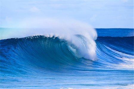 Breaking Wave, Waimea Bay, O'ahu, Hawaii Stock Photo - Rights-Managed, Code: 700-03849425