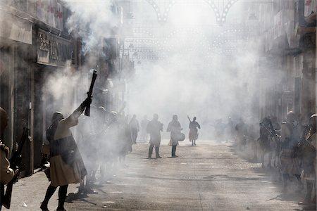 smoke - Moros y Cristianos de Alcoy Fiesta, Alcoy, Spain Stock Photo - Rights-Managed, Code: 700-03849535