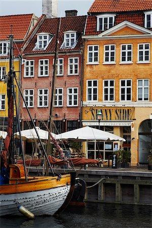european cafe bar - Nyhavn, Copenhagen, Denmark Stock Photo - Rights-Managed, Code: 700-03865148