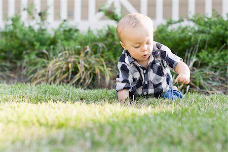 Baby on Lawn Stock Photo - Rights-Managed, Code: 700-03865383