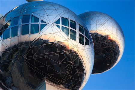 Close-Up of Atomium Structure, Brussels, Belgium Stock Photo - Rights-Managed, Code: 700-03865551