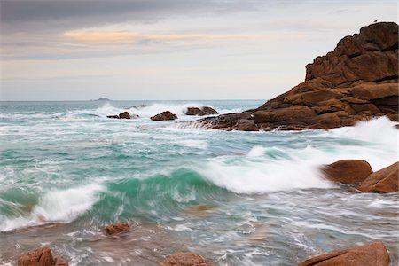 Rocky Coastline, Cote de Granite Rose, Bretagne, France Stock Photo - Rights-Managed, Code: 700-03865575