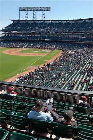 professional baseball game - Baseball Game at AT & T Park, San Francisco, California, USA Stock Photo - Rights-Managed, Code: 700-03865668