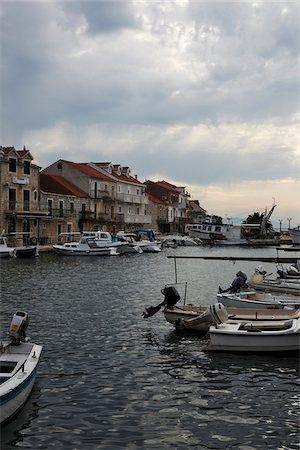 sailing boat storm - Harbor Along Dalmatia Coast, Croatia Stock Photo - Rights-Managed, Code: 700-03874600