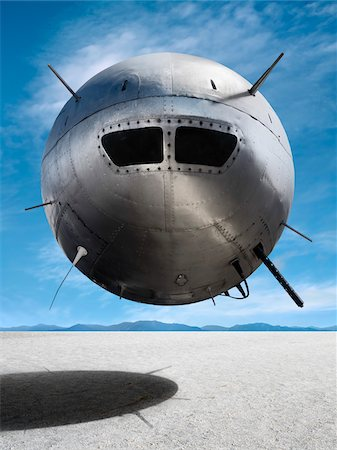 spaceship - UFO Hovering Above Salt Flat, Death Valley, California, USA Stock Photo - Rights-Managed, Code: 700-03891190