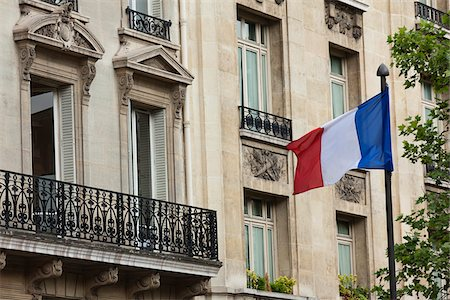 european bar building - Close-Up of Building and French Flag, Paris, France Stock Photo - Rights-Managed, Code: 700-03891240