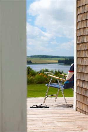 Patio Chair, Prince Edward Island, Canada Stock Photo - Rights-Managed, Code: 700-03891299