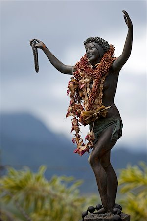 Statue, Koloa, Kauai, Hawaii, USA Stock Photo - Rights-Managed, Code: 700-03891323