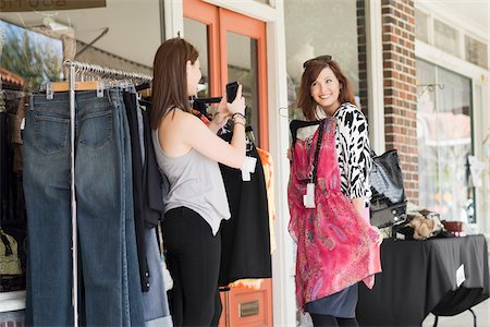 daughter middle-aged mother women young adults - Mother and Daughter Shopping Stock Photo - Rights-Managed, Code: 700-03891332