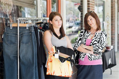 daughter middle-aged mother women young adults - Mother and Daughter Having Argument While Shopping Stock Photo - Rights-Managed, Code: 700-03891333