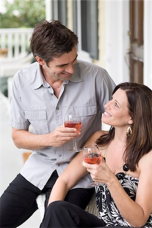 Couple Drinking Wine Stock Photo - Rights-Managed, Code: 700-03891350