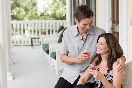 Couple Drinking Wine Stock Photo - Rights-Managed, Code: 700-03891351