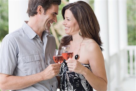 Couple Drinking Wine Stock Photo - Rights-Managed, Code: 700-03891352