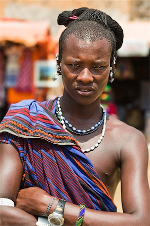 Portrait of Masai Warrior Stock Photo - Rights-Managed, Code: 700-03893467