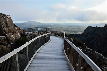 Boardwalk and Scenic Lookout, Ben Lomond National Park, Tasmania, Australia Stock Photo - Rights-Managed, Code: 700-03907568