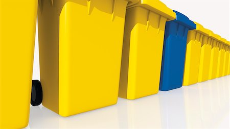 Yellow and Blue Bins Stock Photo - Rights-Managed, Code: 700-03901047