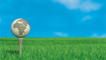 Golf Ball with World Map Stock Photo - Rights-Managed, Code: 700-03901048