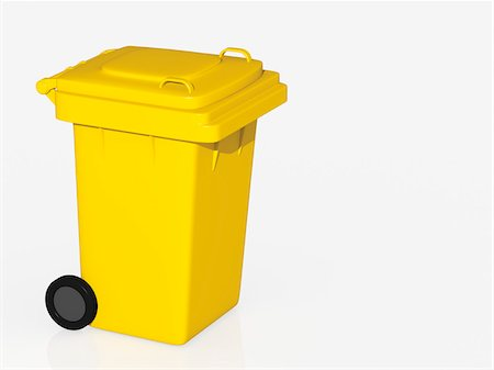 Yellow Bin Stock Photo - Rights-Managed, Code: 700-03901050