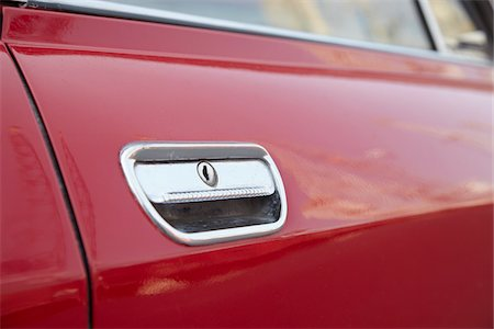 Close-Up of Car Door Handle Stock Photo - Rights-Managed, Code: 700-03958156