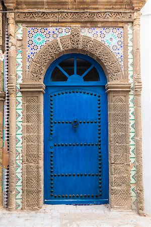 Blue Door, Essaouira, Morocco Stock Photo - Rights-Managed, Code: 700-03958174