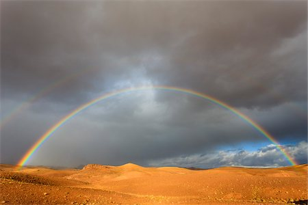 rainbow - Rainbow and Storm Clouds over Desert Stock Photo - Rights-Managed, Code: 700-03958195