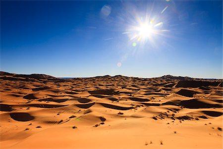 Sun over Desert Sand Dunes, Erg Chebbi, Morocco Stock Photo - Rights-Managed, Code: 700-03958207