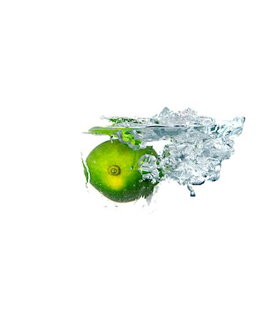 Lime water splash Stock Photo - Rights-Managed, Code: 824-06490308
