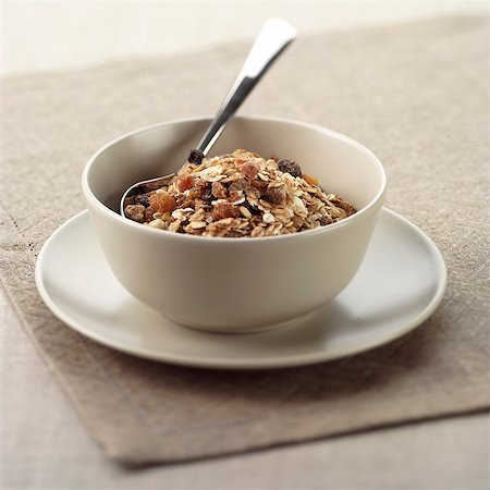 Bowl of Apricot Muesli Stock Photo - Rights-Managed, Code: 824-06491272