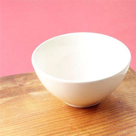 Empty White Stoneware Bowl Stock Photo - Rights-Managed, Code: 824-06491413