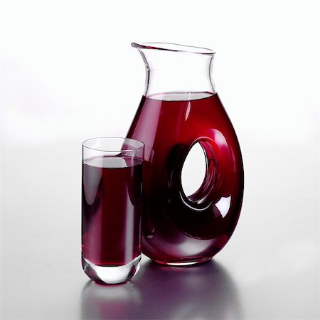 Jug of Blueberry Juice and a Full Glass Stock Photo - Rights-Managed, Code: 824-06491733