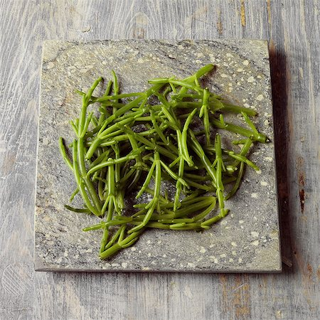 slate - Samphire on a stone surface Stock Photo - Rights-Managed, Code: 824-06492163