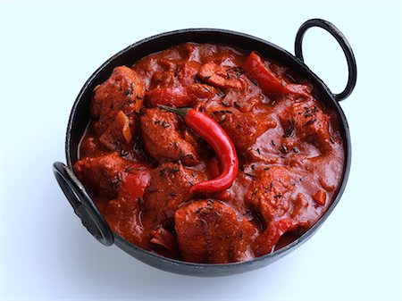 spicy - Chicken vindaloo Indian hot curry Stock Photo - Rights-Managed, Code: 824-07194102