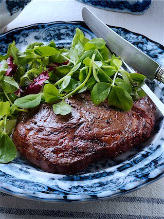 sprout - Rib eye steak salad Stock Photo - Rights-Managed, Code: 824-07194192