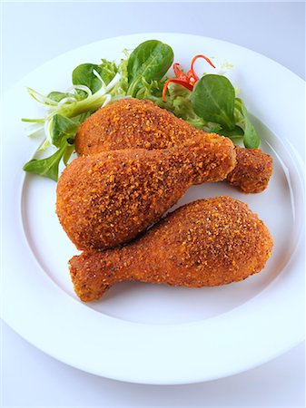 spicy - Spicy Breaded drumsticks Stock Photo - Rights-Managed, Code: 824-07194249